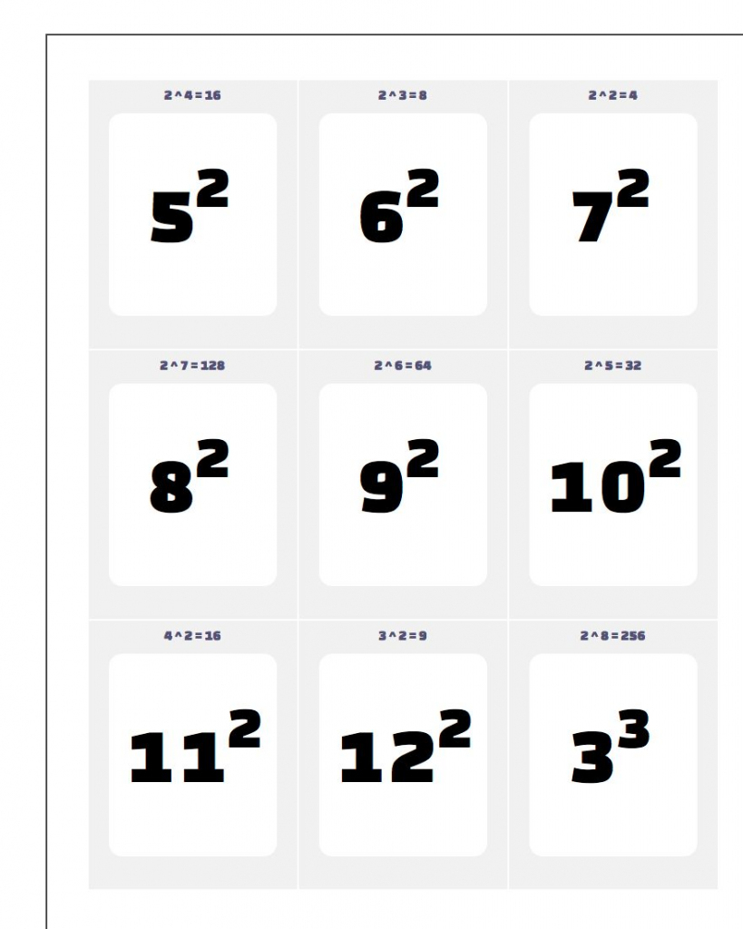 Printable Flash Cards | Free Printable Multiplication Flash Cards