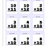 Printable Flash Cards | Multiplication Table Flash Cards Printable