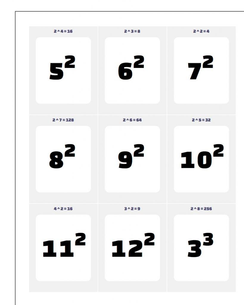 Printable Math Flash Cards Printable Card Free