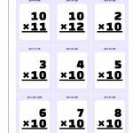 Printable Flash Cards | Times Table Cards Printable