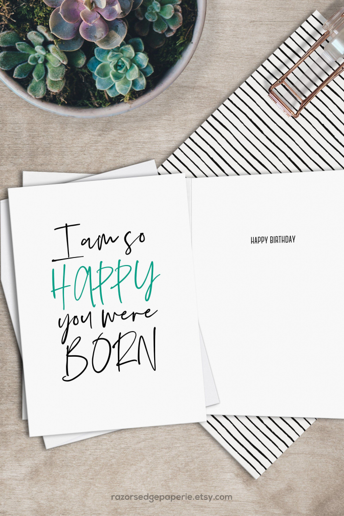 Printable Funny Birthday Card Instant Download Digital Greeting Card | Free Printable Funny Birthday Cards For Coworkers