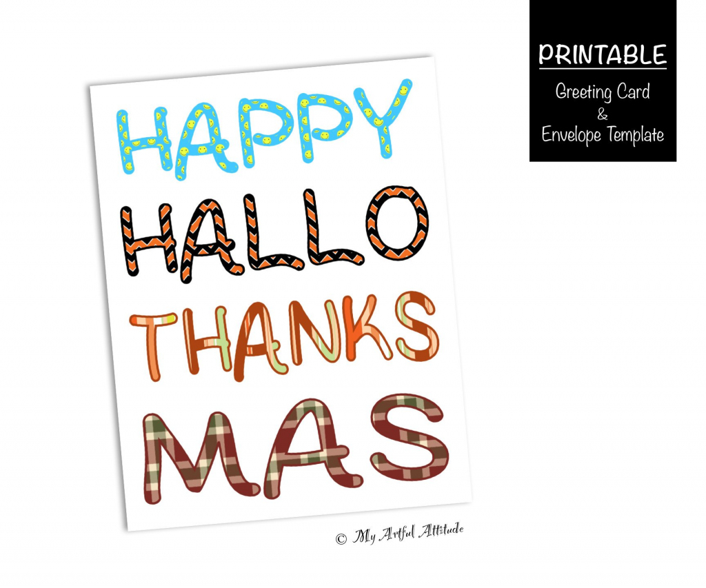 Printable Funny Holiday Card Halloween Thanksgiving | Etsy | Printable Funny Thanksgiving Greeting Cards