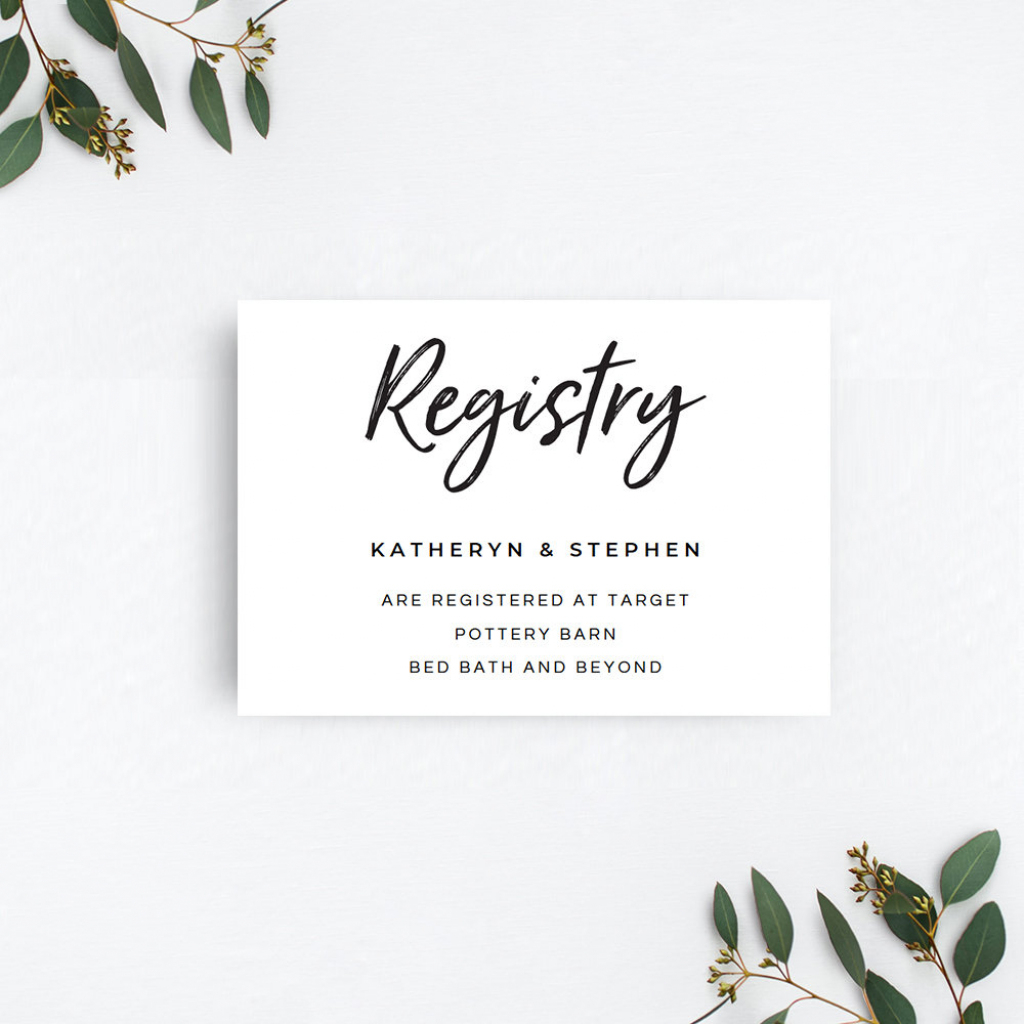 Printable Gift Registry Card Rustic Gift Registry Card | Etsy | Printable Gift Registry Cards