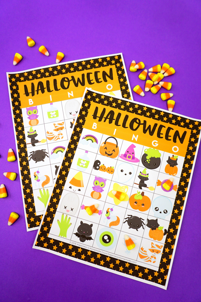Printable Halloween Bingo Cards - Happiness Is Homemade | 25 Printable Halloween Bingo Cards