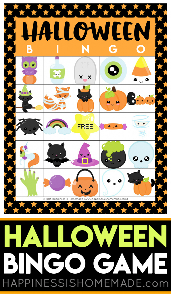 Printable Halloween Bingo Cards - Happiness Is Homemade | Halloween Picture Bingo Cards Printable