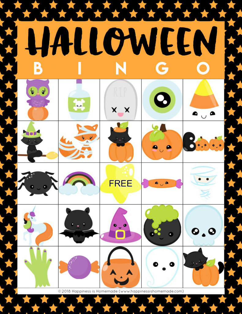 Printable Halloween Bingo Cards - Happiness Is Homemade | Printable Halloween Bingo Cards For Classroom
