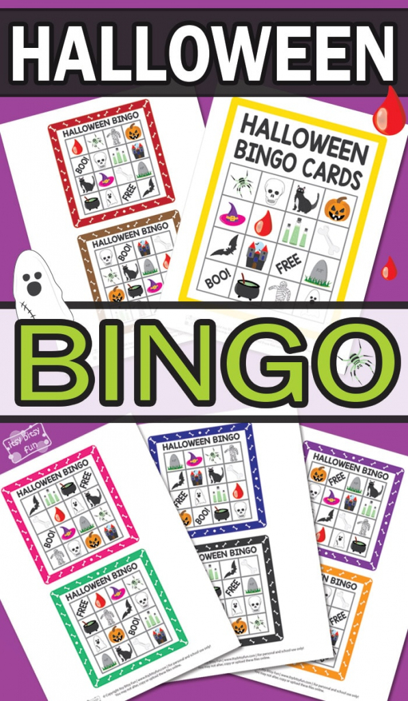 Printable Halloween Bingo Cards - Itsy Bitsy Fun | Fun Printable Halloween Bingo Cards