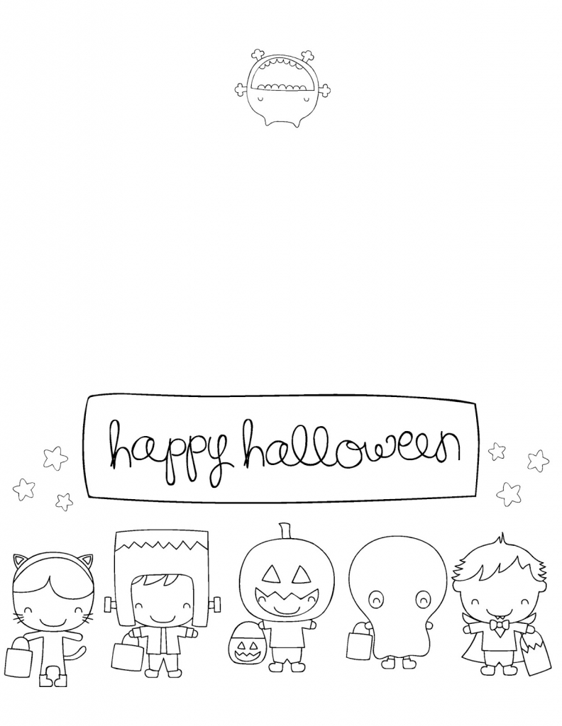 Printable Halloween Cards To Color - Acmsfsu | Printable Halloween Cards To Color For Free
