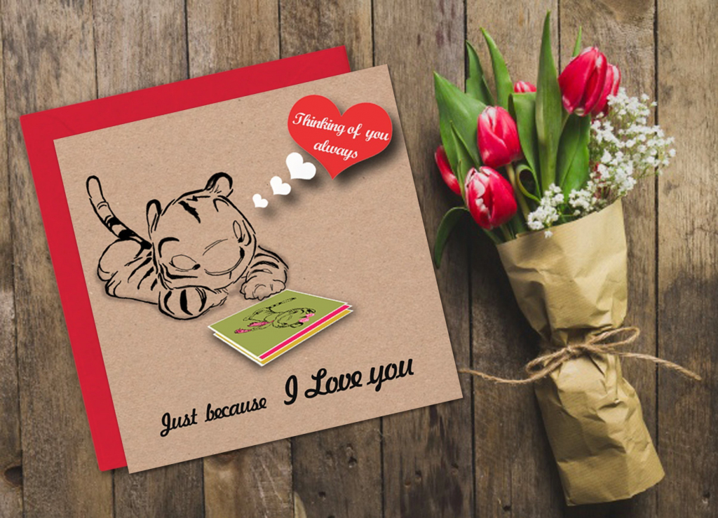 Printable I Love You Card Valentine Card Thinking Of You | Etsy | Just Because I Love You Cards Printable
