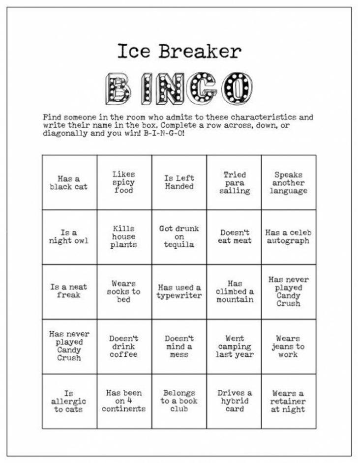 Printable Icebreaker Bingo Cards