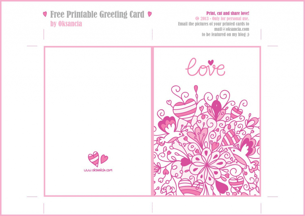 Printable Love Cards With Cute, Romantic And Thoughtful Quotes | Free Printable Love Greeting Cards