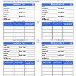 Printable Medication Cards   Canas.bergdorfbib.co | Printable Wallet Medical Card