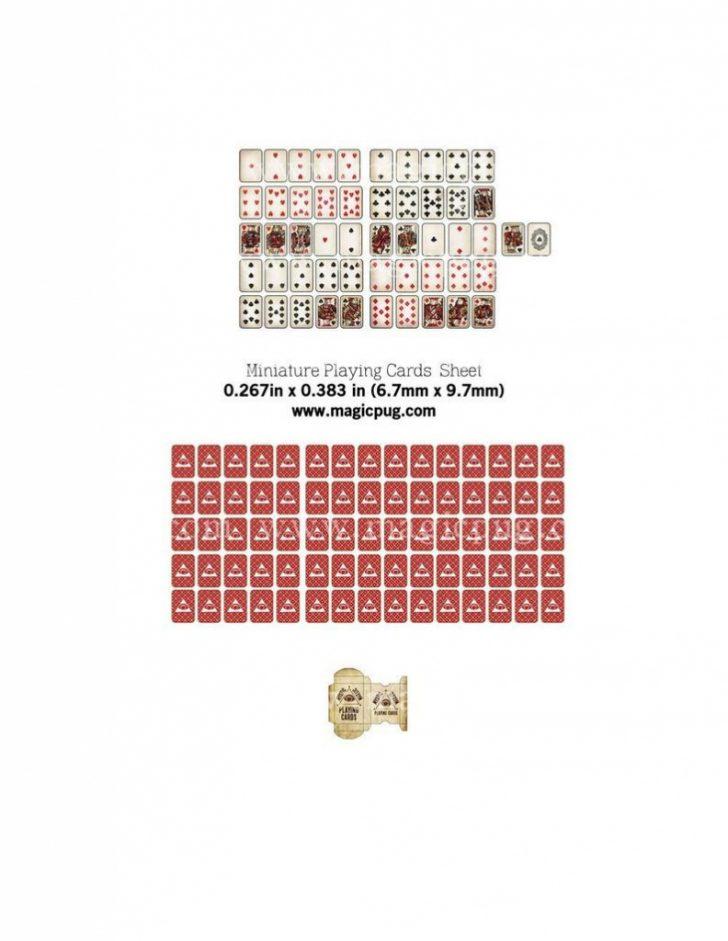 Printable Mini Playing Cards