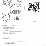 Printable Mother's Day Card | Spring Activities | Homeschool, Gifts | Printable Mothers Day Cards For Kids To Color