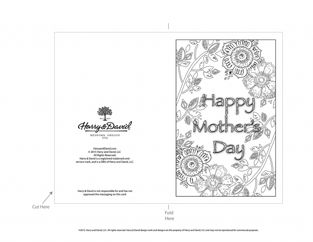Printable Mother's Day Cards   Printable Mothers Day Cards To Color