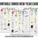 Printable New Year's Eve Bingo Sheets | Free Printable Bingo Cards Random Numbers