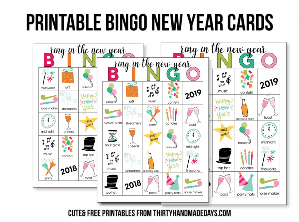 Printable New Year's Eve Bingo Sheets | Free Printable Bingo Cards Random Numbers