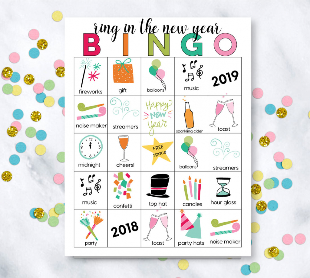 Printable New Year's Eve Bingo Sheets | Printable Picture Bingo Cards For Kids