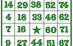 Printable Number Bingo Cards