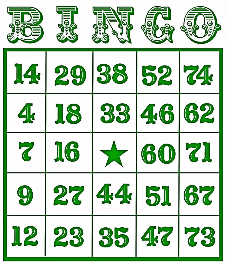 Printable Number Bingo Cards (76+ Images In Collection) Page 1 | Printable Number Bingo Cards