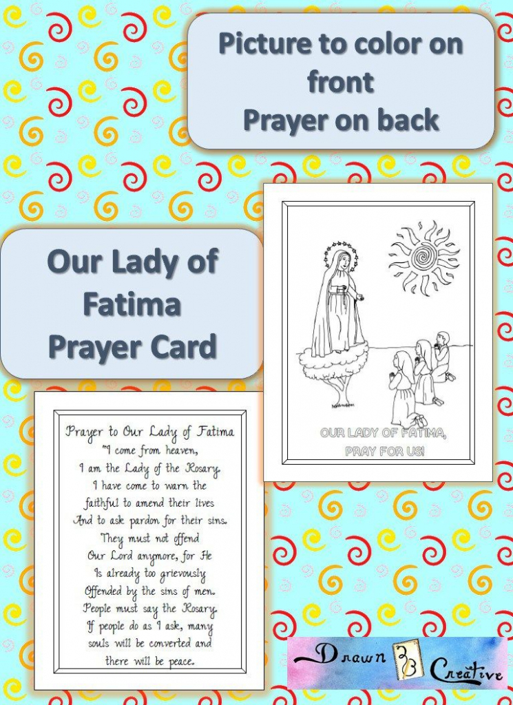 Printable Our Lady Of Fatima Prayer Cards | Catholic Printables | Free Printable Prayer Cards