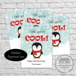 Printable Penguin Valentine's Day Cards I Think | Etsy | Printable Penguin Valentine Cards