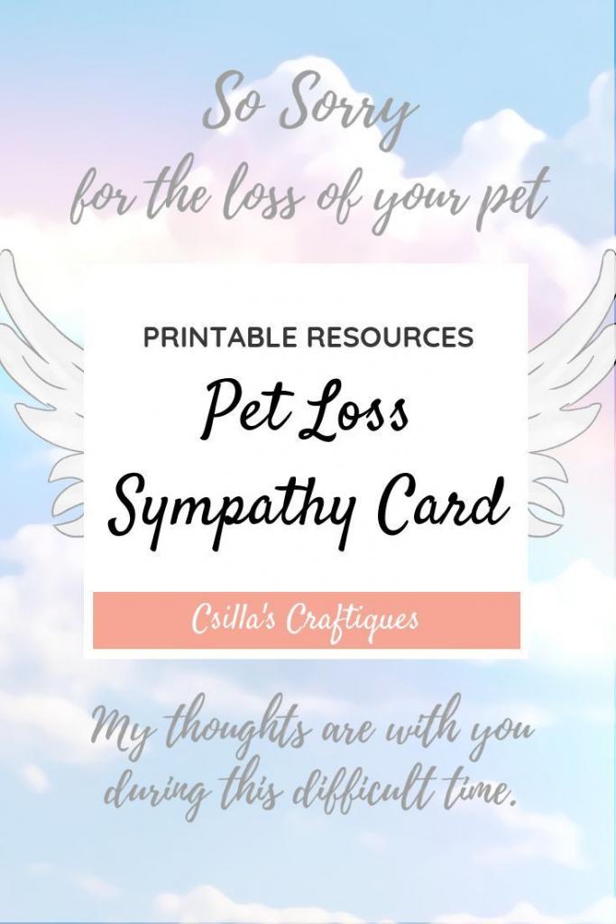 Printable Pet Loss Sympathy Card | Animals & Nature Lovers | Pets | Free Printable Sympathy Cards For Loss Of Dog