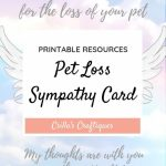 Printable Pet Loss Sympathy Card | Animals & Nature Lovers | Pets | Printable Pet Sympathy Cards