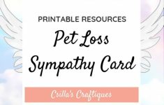 Printable Sympathy Card For Loss Of Dog