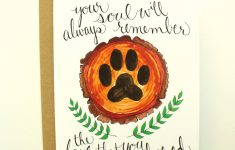 Printable Pet Sympathy Cards