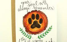 Printable Pet Sympathy Card With Envelope | Etsy | Printable Pet Sympathy Cards