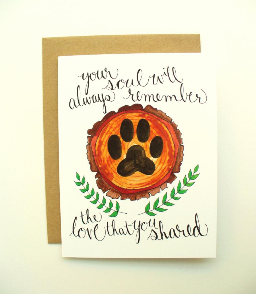 Printable Pet Sympathy Card With Envelope   Etsy   Printable Pet Sympathy Cards