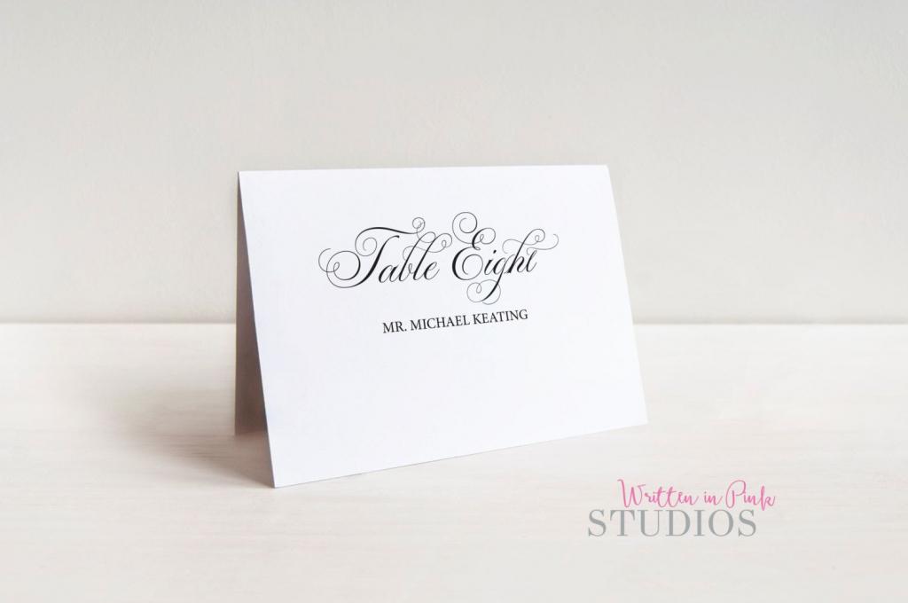 Printable Place Card Template, Elegant Script, Place Cards | Printable Place Cards Template
