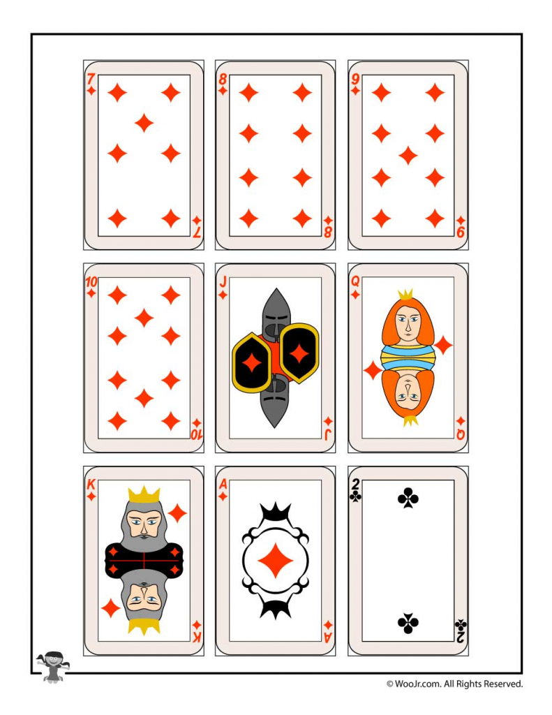 Printable Playing Cards - Diamonds & Clubs | Woo! Jr. Kids Activities | Printable Deck Of Cards