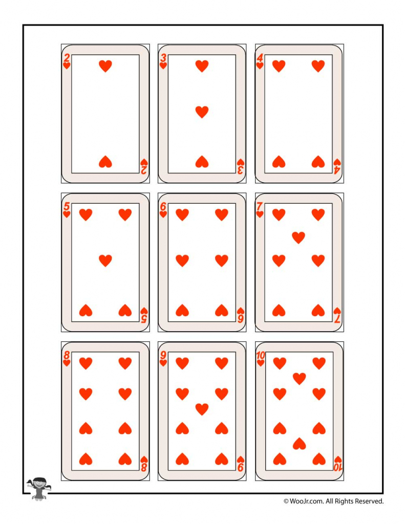 Printable Playing Cards - Hearts | Woo! Jr. Kids Activities | Printable Deck Of Cards