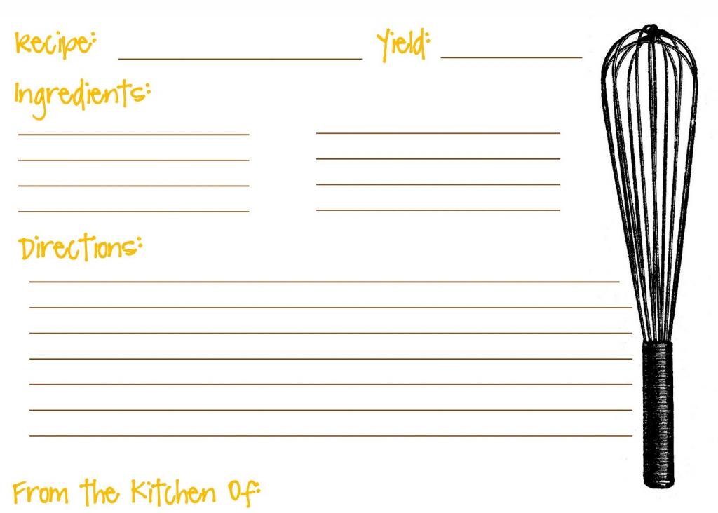 Printable Recipe Cards For Kids Recipe Template For Kids | Recipe | Printable Recipe Card Template