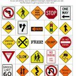 Printable Road Trip Bingo Pages | Road Trip! | Road Trip Bingo, Road | Printable Road Signs Flash Cards