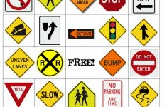 Printable Road Signs Flash Cards