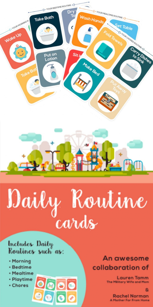 Printable Routine Picture Cards | Classroom Resources | Montessori | Free Printable Daily Routine Picture Cards