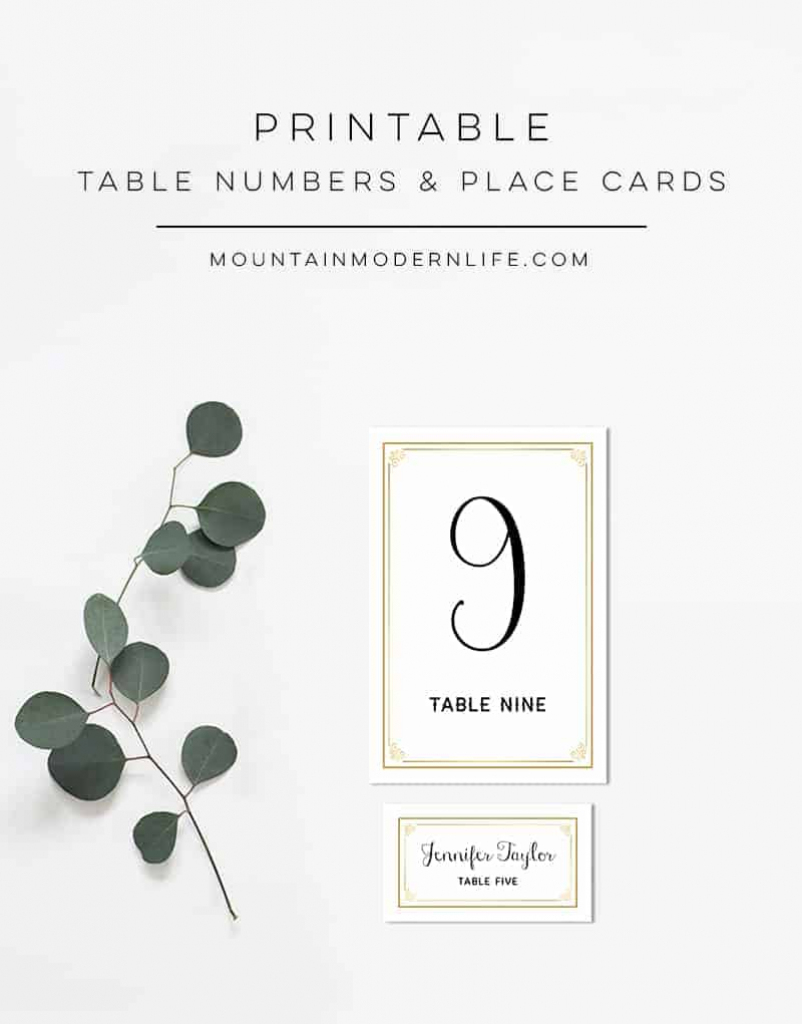 Printable Rustic Diy Table Numbers And Place Cards | Printable Place Cards Template