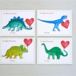 Printable School Dinosaur Valentine Cards For Kids Instant | Etsy | Printable Dinosaur Valentine Cards