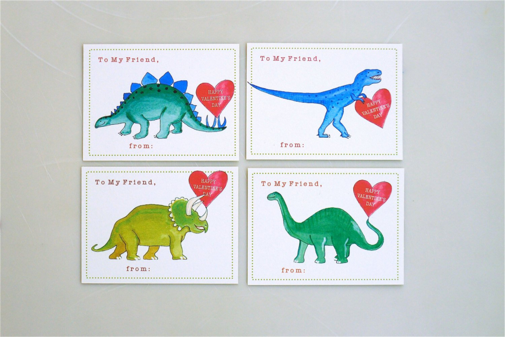 Printable School Dinosaur Valentine Cards For Kids Instant | Etsy | Printable Dinosaur Valentines Day Cards