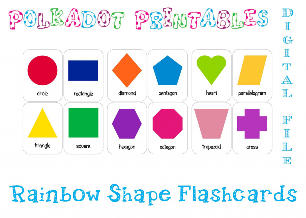 Printable Shape Flashcards Set Of 12 Instant Download | Etsy | Printable Shapes Flash Cards