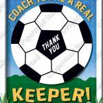 Printable Soccer Coach Thank You Card Printable Soccer   Etsy   Football Thank You Cards Printable