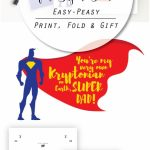 Printable #superdad Card For #fathersday | Gifts For Father | Super Dad Card Printable