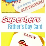 Printable Superhero Father's Day Card To Make For Superdad | Super Dad Card Printable