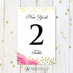 Printable Table Numbers Cards 4 X 6 Instant   Etsy   Printable Table Number Cards