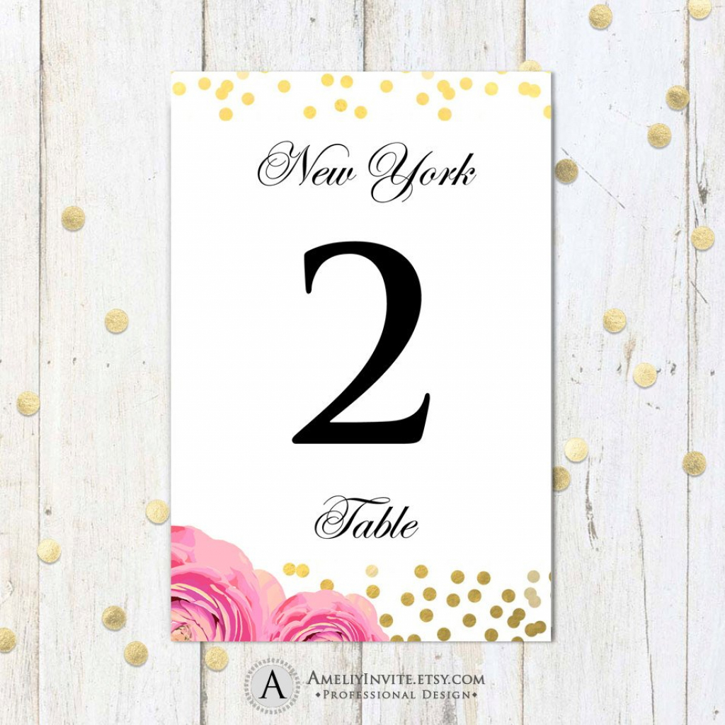 Printable Table Numbers Cards 4 X 6 Instant | Etsy | Printable Table Number Cards