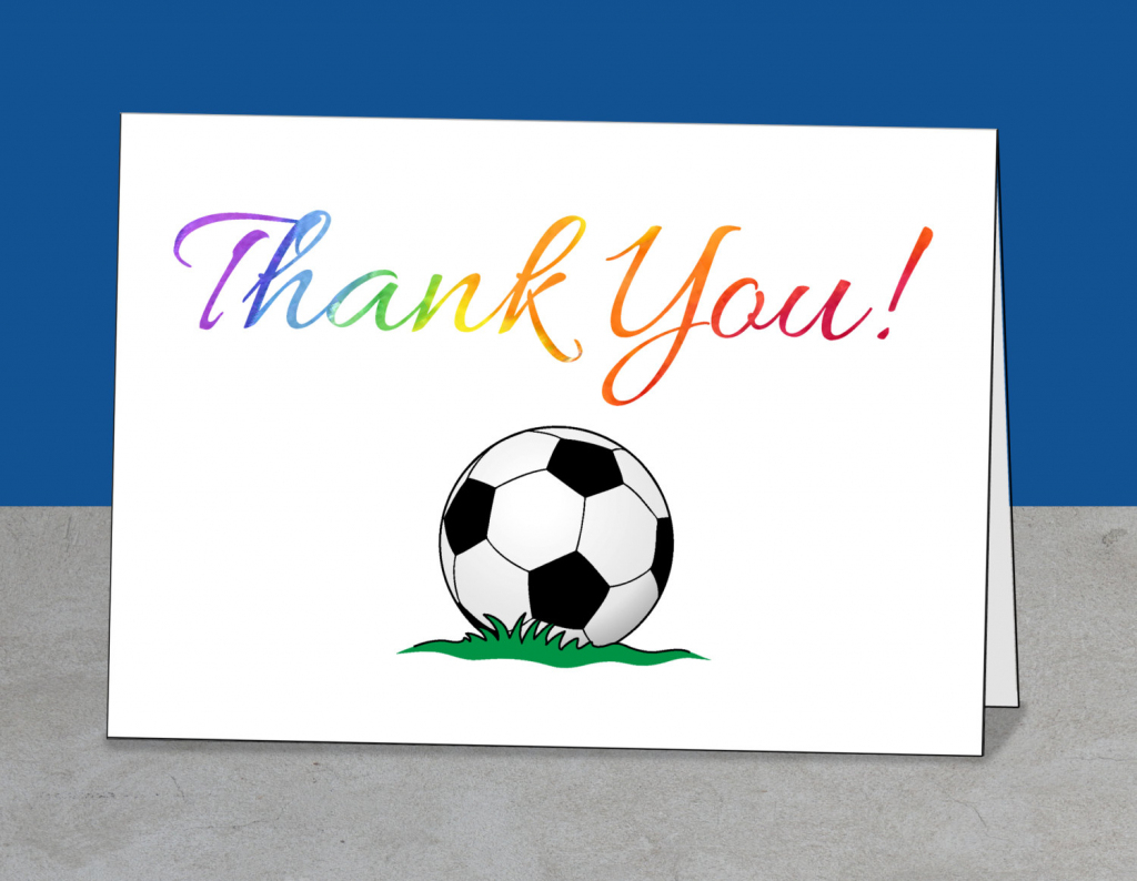 Printable Team Thank You Card For Soccer Coach Instant | Etsy | Football Thank You Cards Printable
