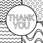 Printable Thank You Cards For Kids | Classroom | Printable Thank You | Printable Thank You Card Black And White